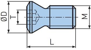 M4 x 8 Torx Schrauben für Wendeplattenhalter 10 Stk